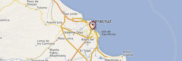 Carte Veracruz - Mexique