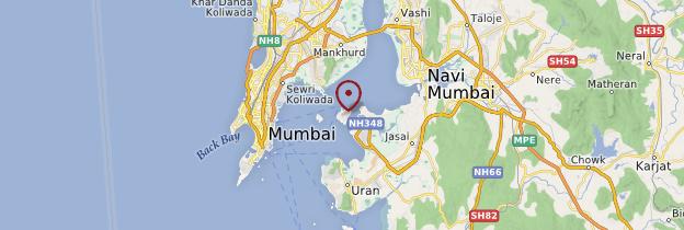 Carte Elephanta Caves (Île et grottes d'Elephanta) - Mumbai