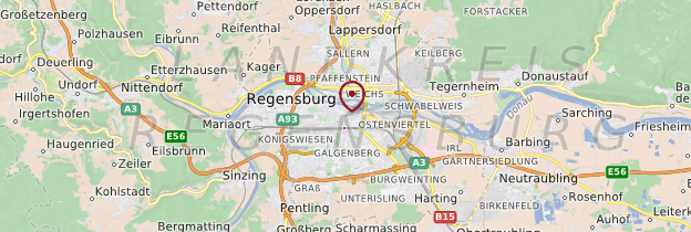 Carte Regensburg (Ratisbonne) - Allemagne