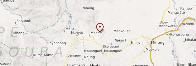 Carte Mbouassoum - Cameroun