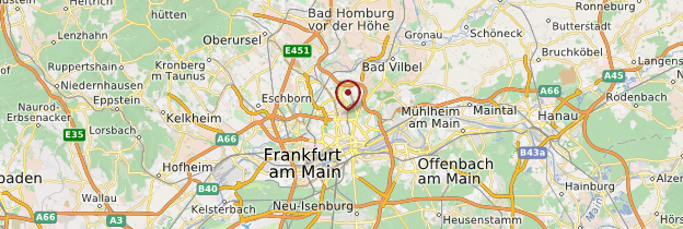 Carte Frankfurt am Main (Francfort-sur-le-Main) - Allemagne