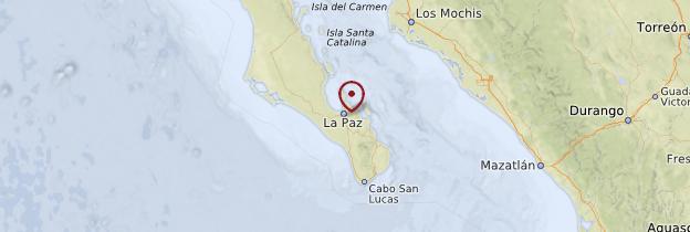 Carte La Paz - Mexique