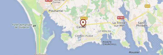 Carte Carnac (Karnag) - Bretagne