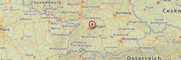 Carte Bade-Wurtemberg - Allemagne