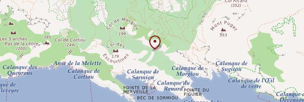 Carte Calanques de Marseille - Marseille