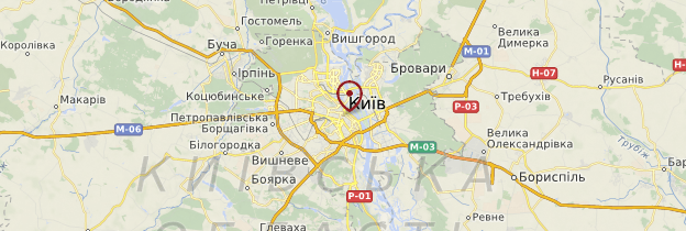 Carte Kiev - Ukraine