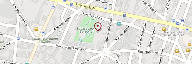 Carte 18ème arrondissement - Paris