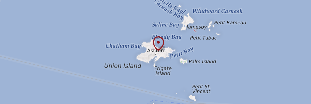 Carte Île Union - Saint-Vincent-et-les-Grenadines
