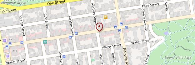 Carte Haight-Ashbury - San Francisco