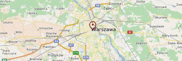 Carte Varsovie et ses environs - Pologne