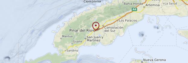 Carte Province de Pinar del Río - Cuba