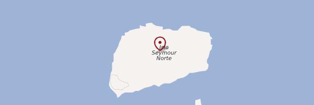 Carte Isla Seymour Norte - Îles Galápagos