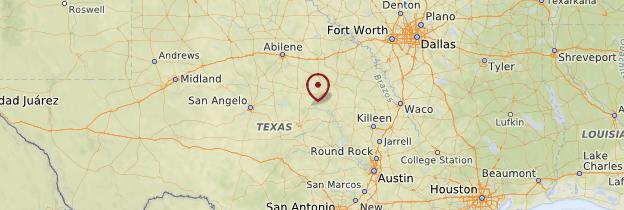 Carte Texas - États-Unis
