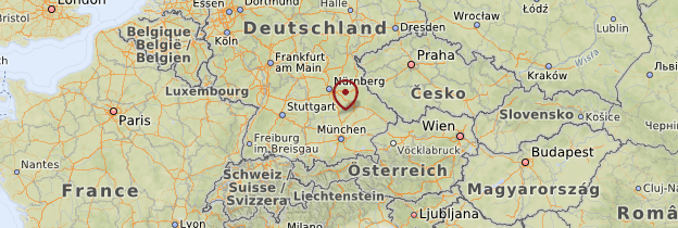 Carte Bavière - Allemagne