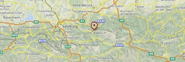 Carte Salzkammergut - Autriche