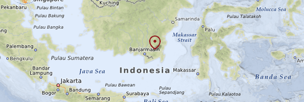 Carte Bornéo - Indonésie