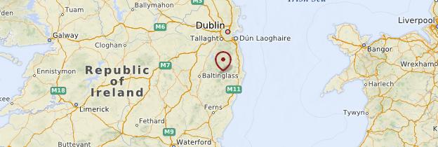 Carte Comté de Wicklow - Irlande