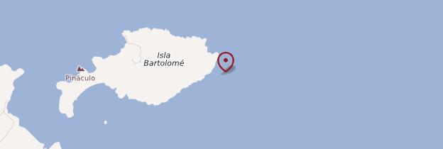Carte Isla Bartolomé - Îles Galápagos