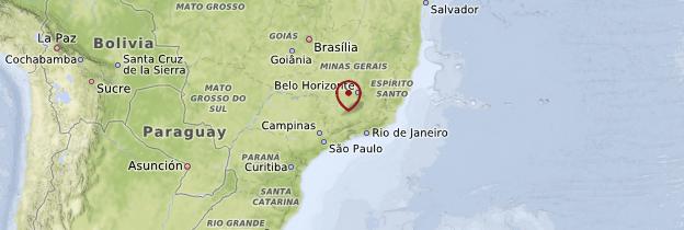 Carte État de Rio de Janeiro - Brésil