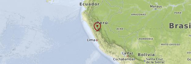 Carte Andes péruviennes (Cordillère des Andes) - Pérou