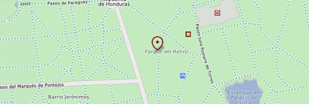 Carte Parque del Buen Retiro - Madrid