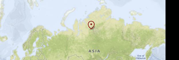 Carte Sibérie - Russie