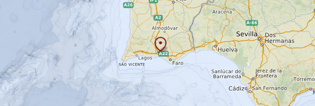 Carte Algarve - Portugal