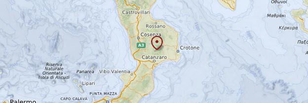 Carte Calabre - Italie