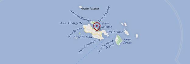 Carte Praslin - Seychelles