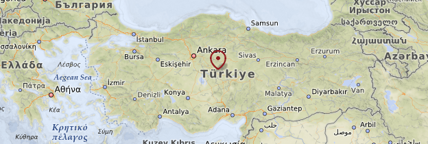 Carte Anatolie Centrale - Turquie