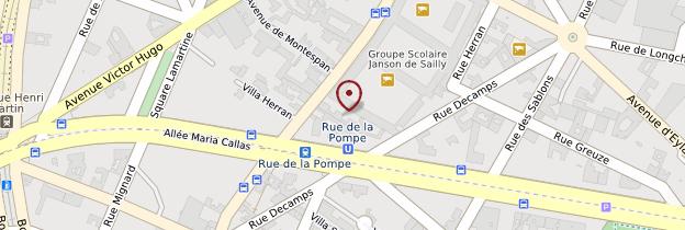 Carte 16ème arrondissement - Paris