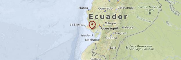 Carte Côte pacifique - Équateur