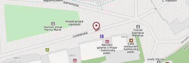 Carte Hradčany - Prague