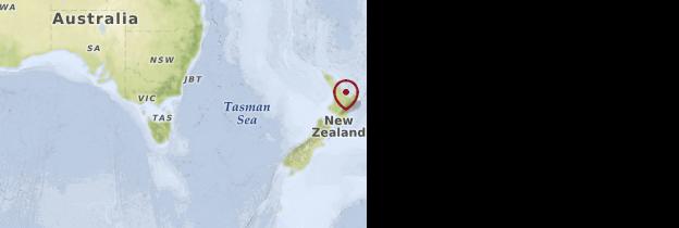 Carte Île du Nord - Nouvelle-Zélande