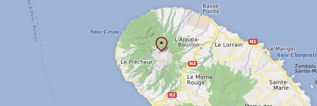 Carte Autour de la Montagne Pelée - Martinique