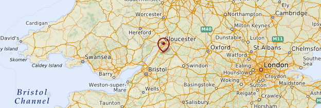 Carte Bristol et Cotswolds - Angleterre