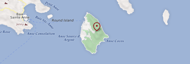 Carte La Digue - Seychelles