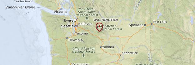 Carte État de Washington - États-Unis