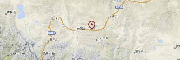 Carte Friendship Highway, route de Kathmandu à Lhasa - Tibet