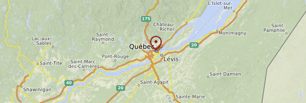 Carte Québec - Québec