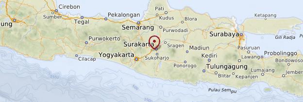 Carte Java - Indonésie