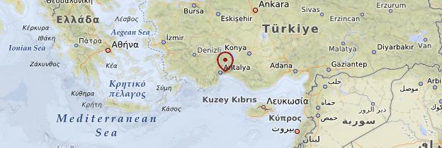Carte Côte méditerranéenne - Turquie
