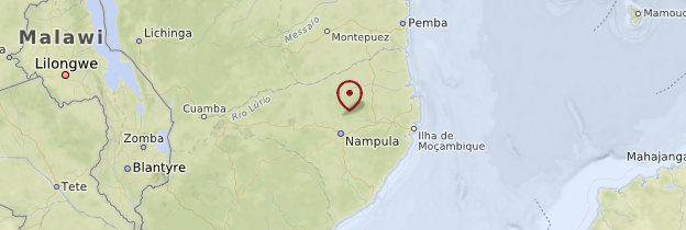 Carte Province de Nampula - Mozambique
