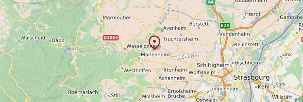 Carte Bas-Rhin - Alsace