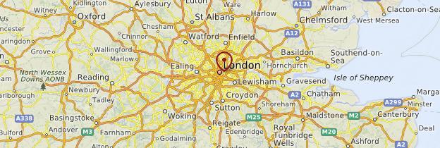 Carte Grand Londres - Londres