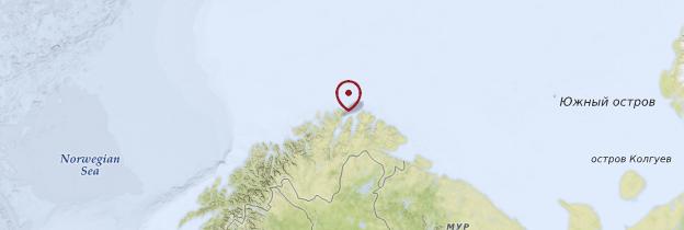 Carte Cap Nord - Norvège