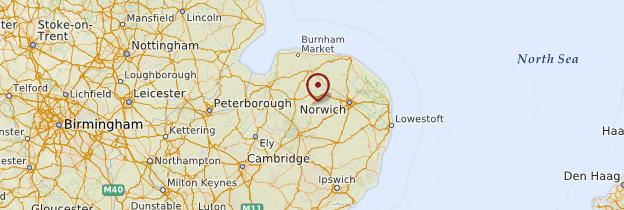 Carte Norfolk Angleterre.Norfolk Et Suffolk Guide Et Photos Angleterre Routard Com