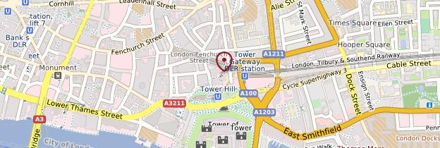 Carte City, Tower Bridge et Docklands - Londres