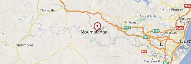 Carte Mpumalanga - Afrique du Sud
