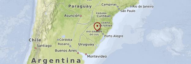Carte Rio Grande do Sul, Santa Catarina et Paraná - Brésil